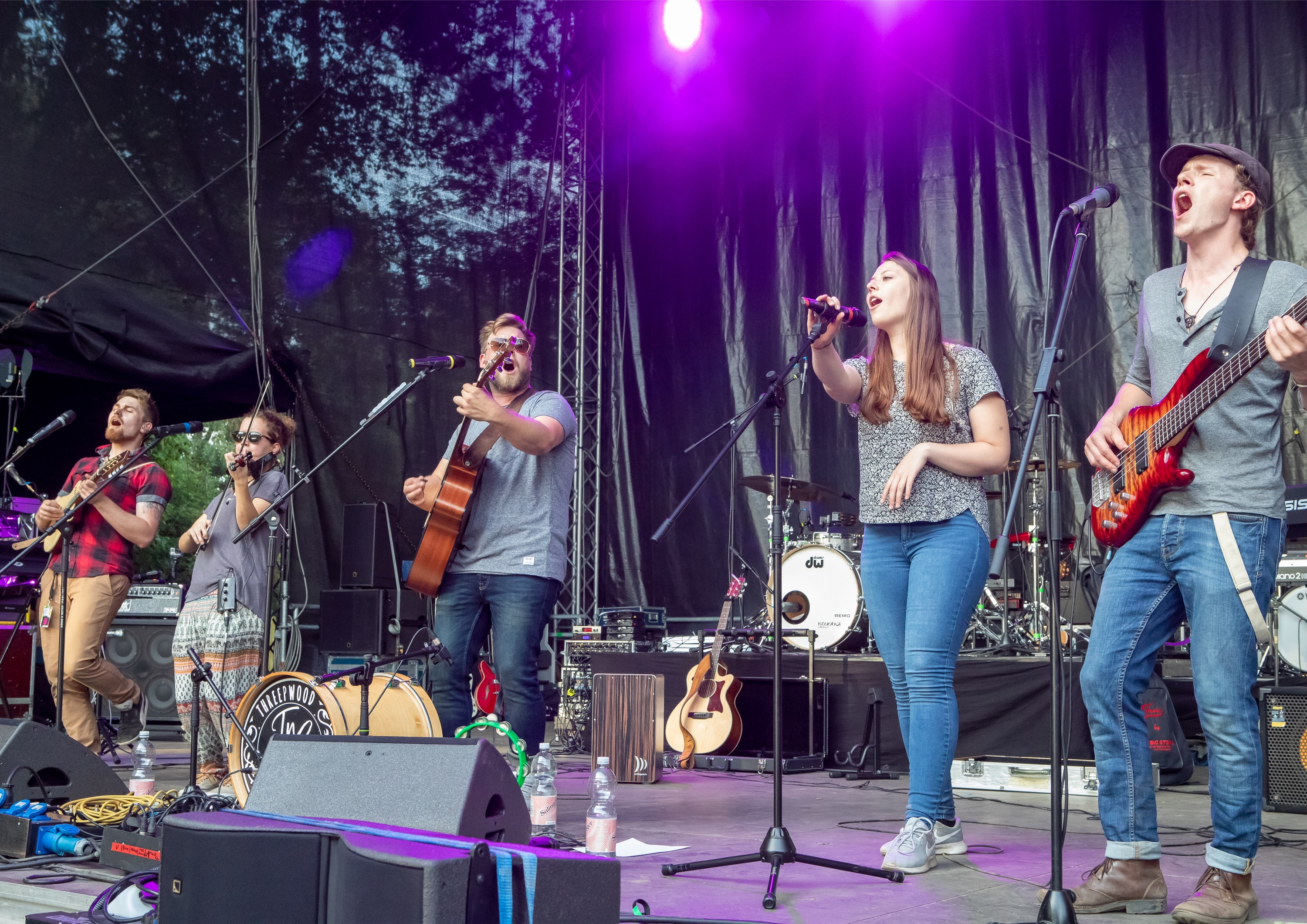 TnS Threepwood N Strings eröffnen Waltroper Parkfest 2019