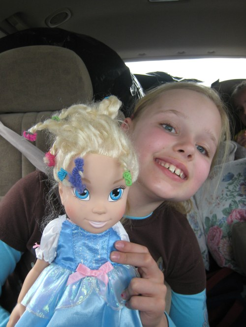 Cinderella with Crazy Hair