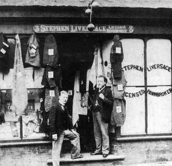 Stephen Liversage's pawnbrokers shop