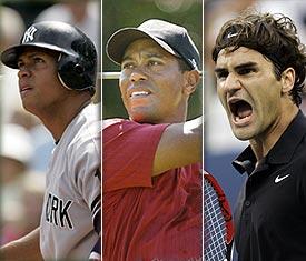 A-Rod, Woods, Federer