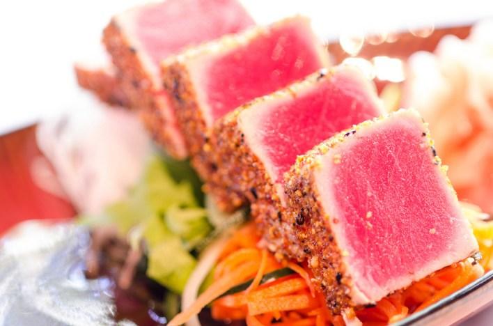 Sashimi at Three's Bar and Grill