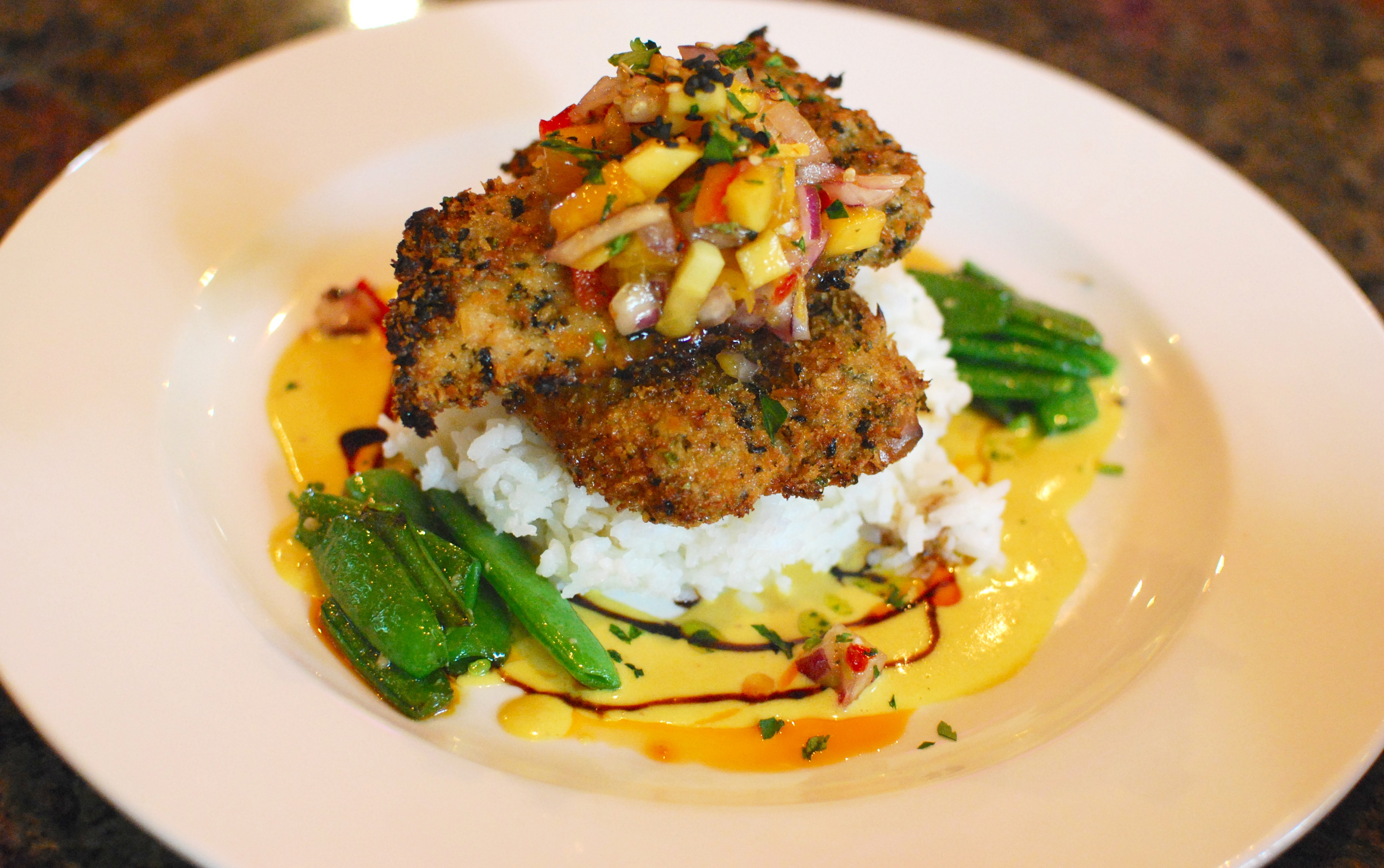 recipe of the month: macadamia nut crusted chicken breast, big