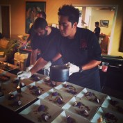 Chef Travis and staff working their magic.