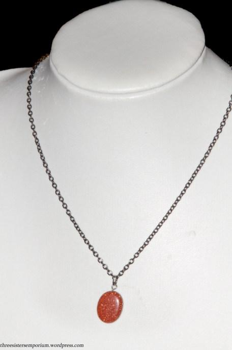 OOAK stunning goldstone neckalce