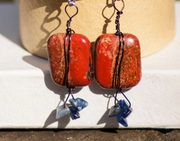 Jasper beads accented with sodalite chips