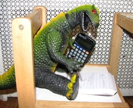 Godzilla using a calculator