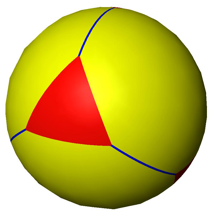 spherical truncated tetrahedron