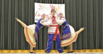 Chudovyi Dancers display Ukraine culture at annual Santa tea