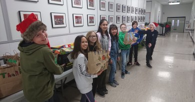 Mills Haven students donate to food bank in unique way