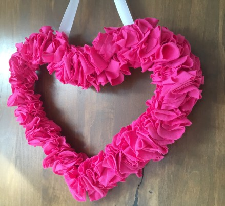 Three Whims: DIY Valentine's Day hearth wreath