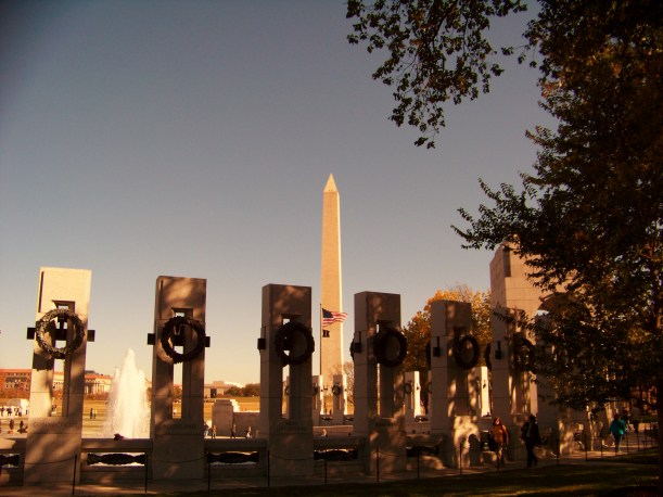 World War II Memorial and Washington Monument in the background. Photo by Mike Hartley