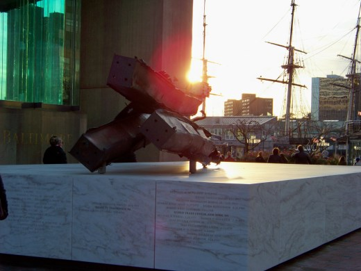 Steel from World Trade Center Photo by Mike Hartley
