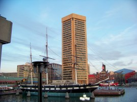 USS Constellation and World Trade Center Photo by Mike Hartley