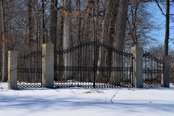 Gate off of Manor Lane. Photo by Mike Hartley