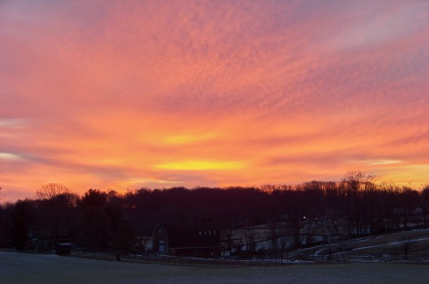Sunrise over Clarksville 2/16/2015 Photo by Mike Hartley