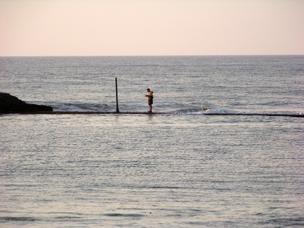 Who said fisherman can't walk on water? Photo by Mike Hartley
