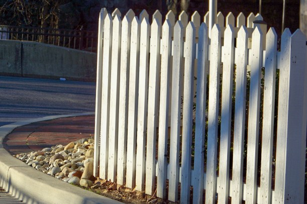 Fence at sunrise. Photo by Mike Hartley