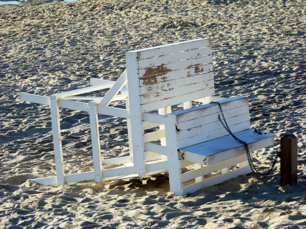 Lifeguard chair deactivated for the off season. Photo by Mike Hartley