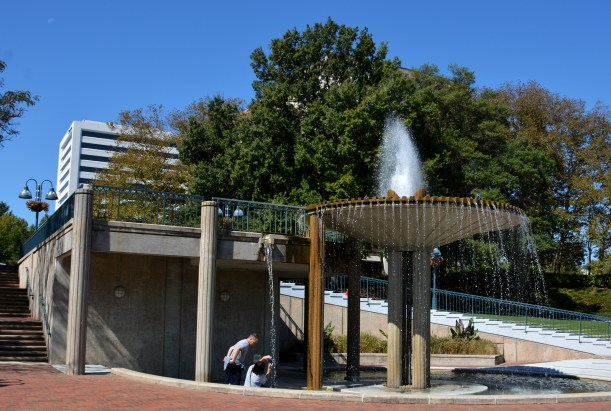 Town Center fountain. Photo by Mike Hartley