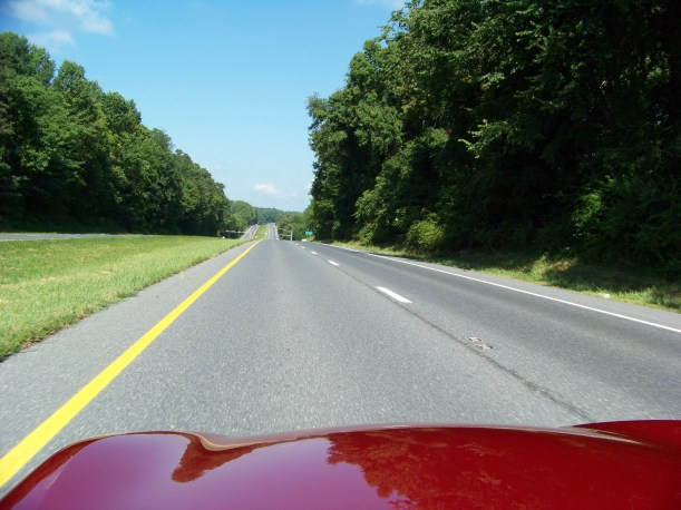 Eating up some road along Rt 40.  Photo by Mike Hartley