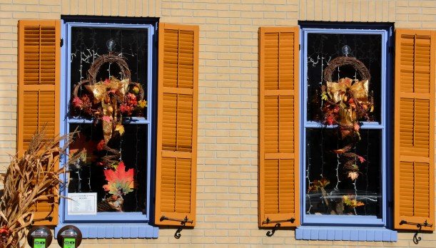 Thanksgiving window colors. Photo by Mike Hartley