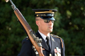 """One of the """"Old Guard"""" at the Tomb of the Unknown Soldier. Photo by Mike Hartley"""