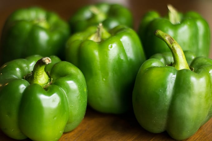 6 green bell peppers