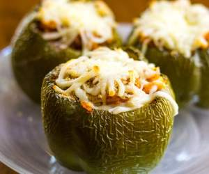 cooked stuffed bell pepper