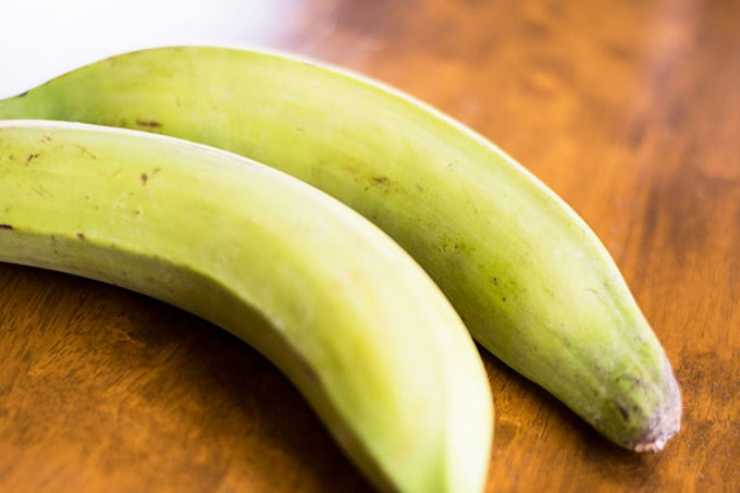 two green plantains