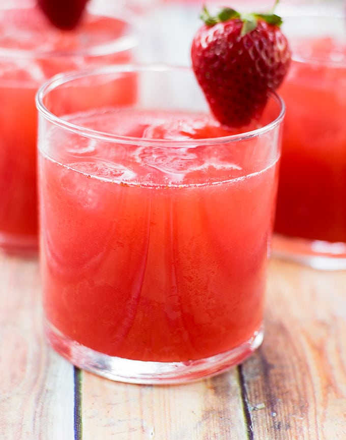Agua de fresa is a refreshing beverage popular through out Mexico. It is only one of many different types of agua frescas. Serve it this Cinco de Mayo. It will be a hit!