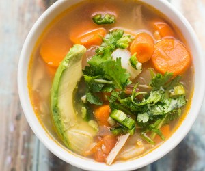 caldo de pollo is a mexican chicken soup. This mexican soup recipe is perfect during the chilly fall and winter weather.
