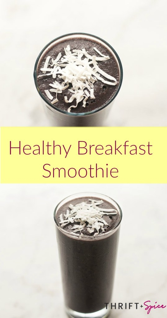 delicious healthy breakfast smoothie
