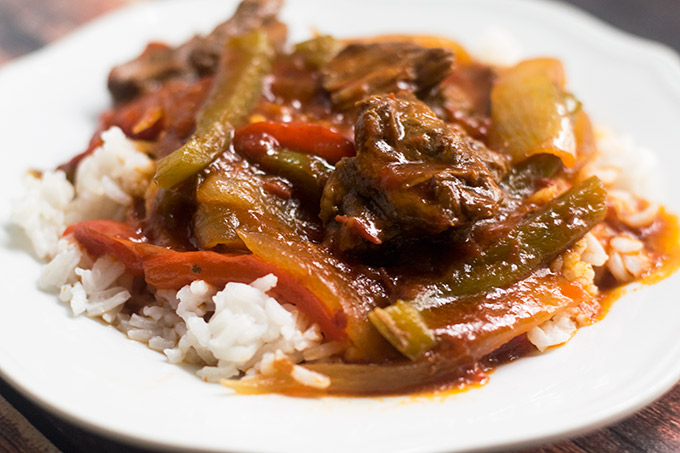 This slow cooker Pepper Steak and Rice recipe is the perfect meal to cook in your slow cooker this Fall and Winter.