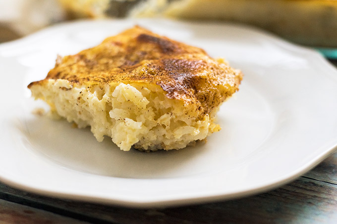 Old Fashioned Southern Baked Rice Pudding