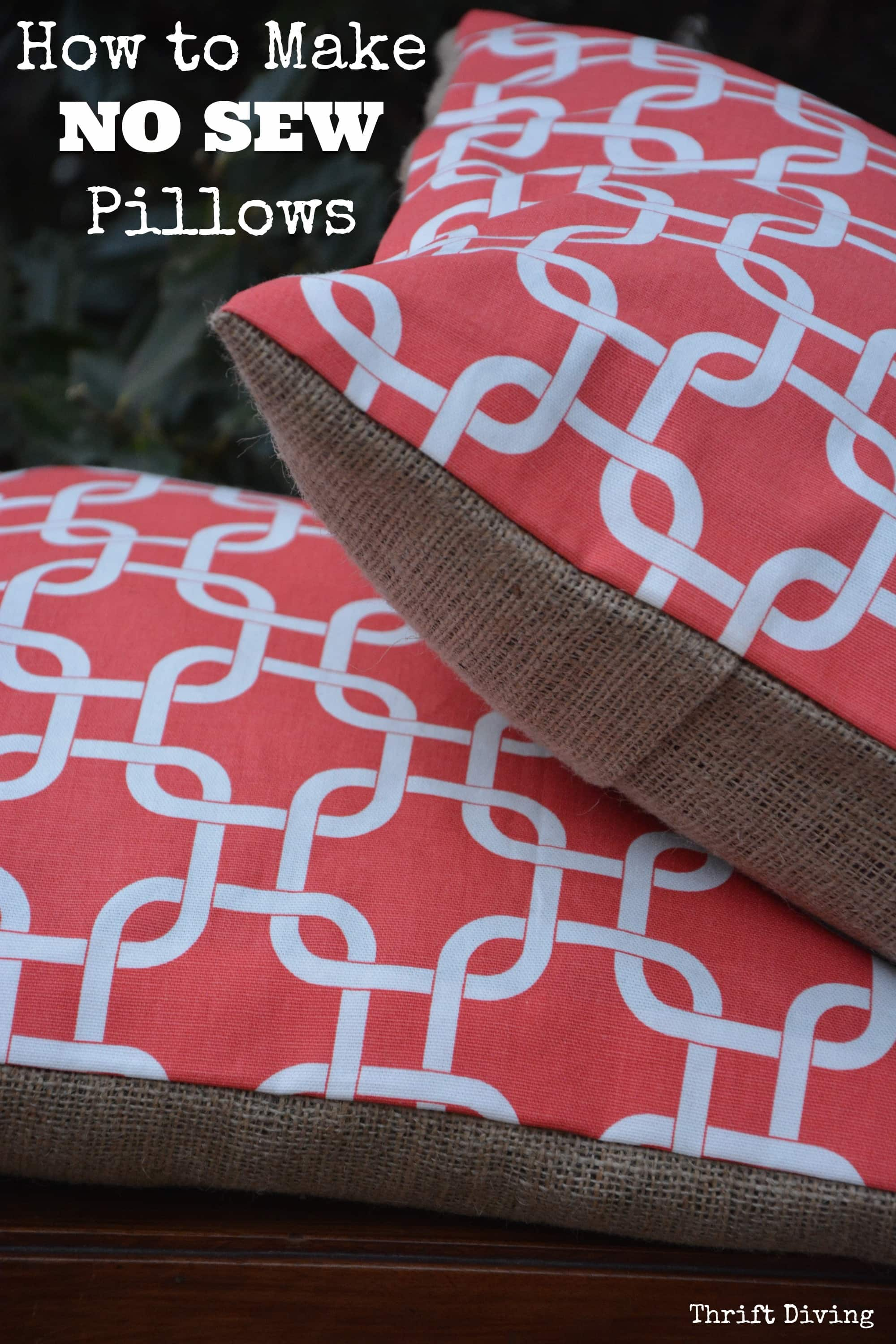 how to make pretty no sew pillow covers