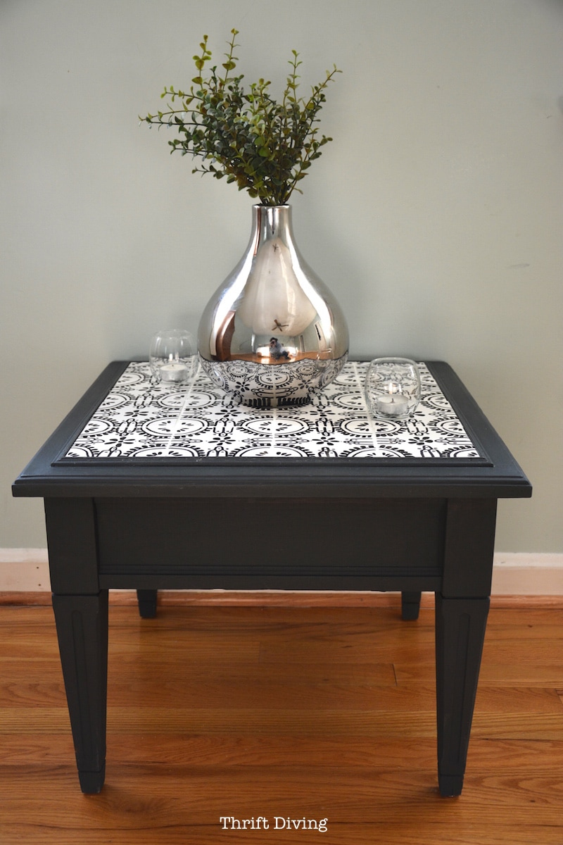 how to tile a table top with your own