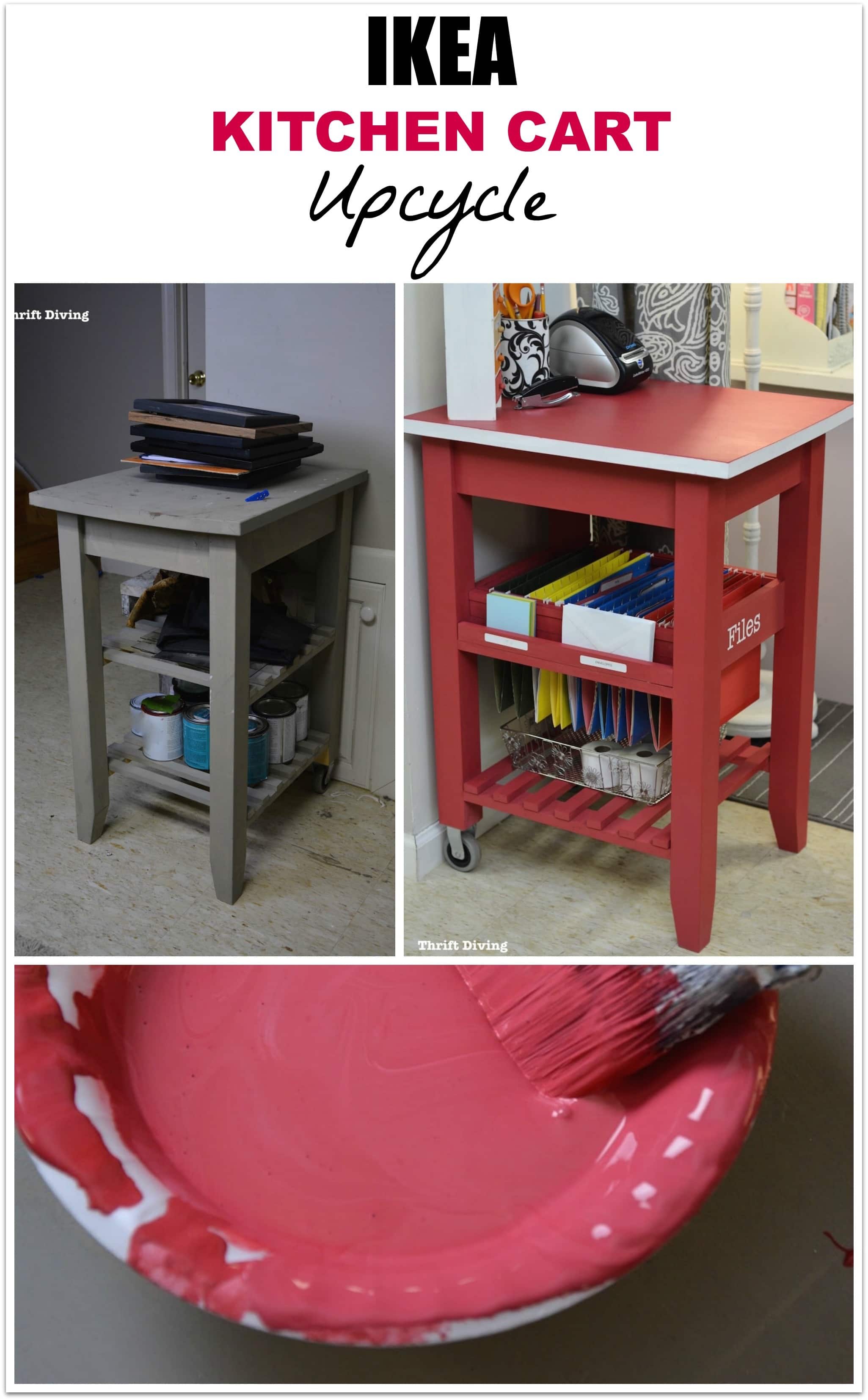 how to repurpose an ikea kitchen cart