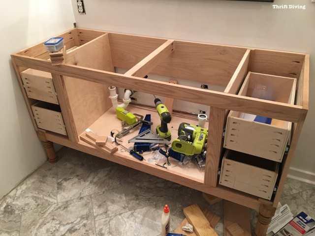 Build a DIY Bathroom Vanity - Part 4 - Making the Drawers on {keyword}