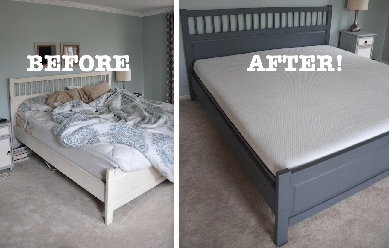 An Honest Lull Mattress Review And A Painted Ikea Bed Makeover