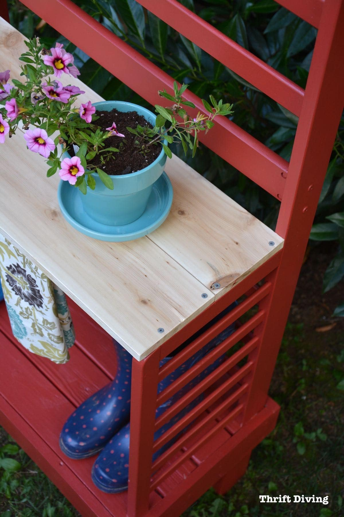 Before Amp After Repurposed Toddler Bed Becomes A Diy