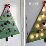 How To Make A Diy Wall Mounted Wooden Christmas Tree
