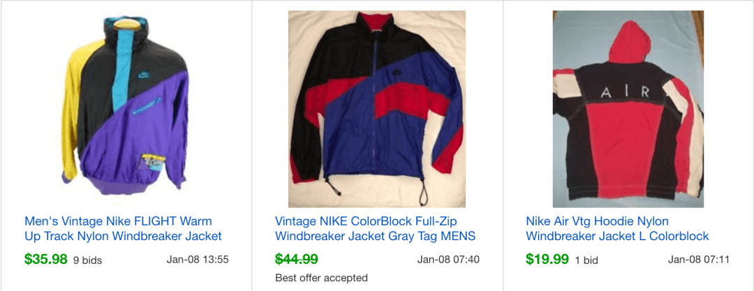df4e01967bf9 I can always seem to find these on most shopping trips. I don t know what  it is about the Nike nylon jackets. They typically sell pretty fast too