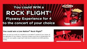 2013 Coca-Cola & Cinemark Rock Flight Sweepstakes