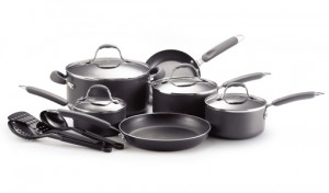 Farberware 13-Piece Cookware Set with Cool Touch Handles, Non-Stick Interior and Dishwasher Safe