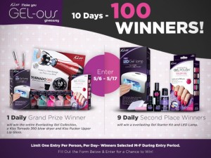 Kiss Nails 100 Winners 10 days Giveaway