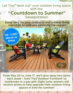 """Trex Company - """"Countdown To Summer"""" Sweepstakes"""