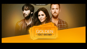 UMG Recordings Lady Antebellum Golden Ticket Game
