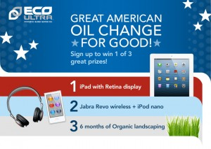 """Eco Ultra Oil """"CHANGE FOR GOOD"""" Sweepstakes"""