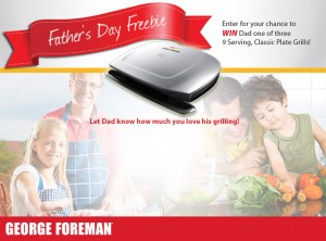 George Foreman Cooking Father's Day Freebie Sweepstakes