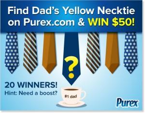 Purex Find Dad's Necktie Sweepstakes